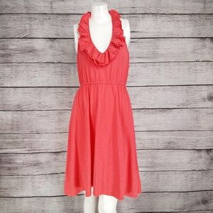 Express Halter neck Casual Dress Sleeveless Ruffle